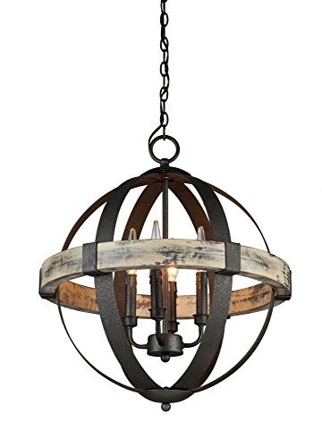 Artcraft Lighting Castello 4-Light Mini Chandelier, Black (Classics Outdoor Four Light)
