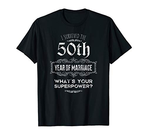 50th Wedding Anniversary Matching Shirts for Couples -