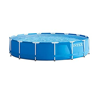 Intex 15 39 X 33 Round Metal Frame Above Ground Pool