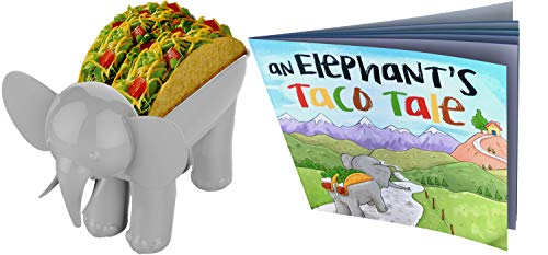 ELEPHANT TACO HOLDER - THE ULTIMATE MULTIPURPOSE FOOD HOLDER - KIDS BOOK FEATURING ELROY THE ELEPHANT TACO HOLDER by Glue Theory