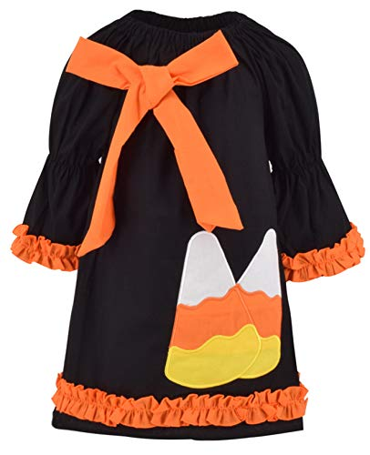 Unique Baby Girls Candy Corn Halloween Dress with