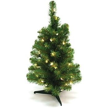 Amazon.com: Wideskall Tabletop Green Christmas Pine Tree with ...