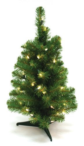 Special Happy Corp LTD Canadian Artificial Prelit Tabletop Christmas Tree, 2-Feet, Clear Lights by Good Tidings
