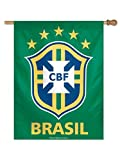 WinCraft Brazil Brasil National World Cup Soccer Vertical Green Flag (27'' x 37'')