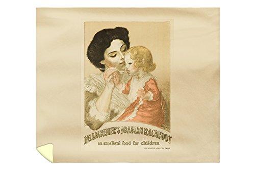 Delangrenier's Arabian Racahout Vintage Poster (artist: Steinlen) France c. 1905 (88x104 King Microfiber Duvet Cover) by Lantern Press
