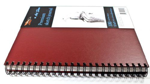 Art Show - Draw Anywhere Without a Desk - Genuine Ultra Rigid Hardcover Gives All The Drawing Support You'll Need - Spiral Sketch Pad - Acid Free 100 Sheets 9x12 inchs. (How To Remove Some compare prices)