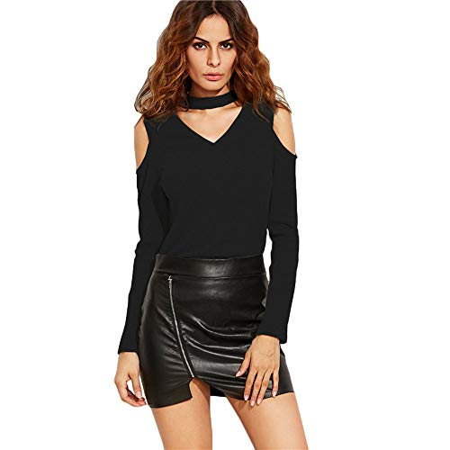 Amazon.com : Clearance!HOSOME Women Top Womens Summer Autumn Fashion Fashion Women V-neck Off Shoulder Tops Long Sleeve T-Shirt Casual Blouse : Grocery ...