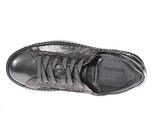 In Donna Antracite Nero Sneaker Pelle Giardini qCEEYwp