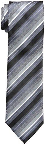 Geoffrey Beene Men's Beyond Stripe Tie, Black, One Size