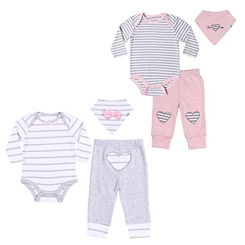 Twin Baby Girls' Clothing Set 9-12 Month Long-Sleeve