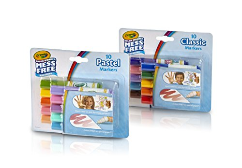 Crayola Color Wonder Markers, Mess Free Coloring, Classic & Pastel Colors (20 Count) (2 Pack ) -