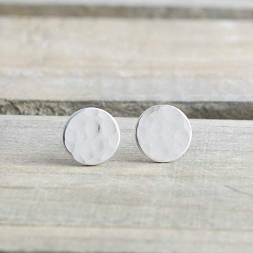 Dainty 6mm Circle Stud Earrings Sterling Silver Dots for sale  Delivered anywhere in USA