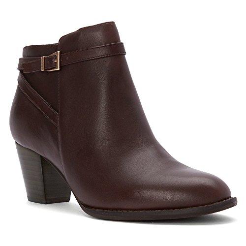 Upton 9 Boot Upright 5 Ankle Size Vionic Women's Java wEvgxU4q