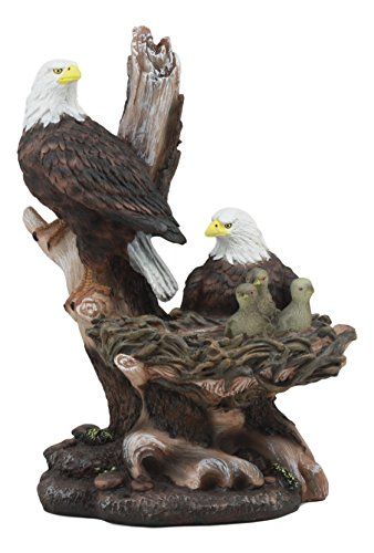 (Ebros Icarus The American Bald Eagle Family In Nest Statue 12
