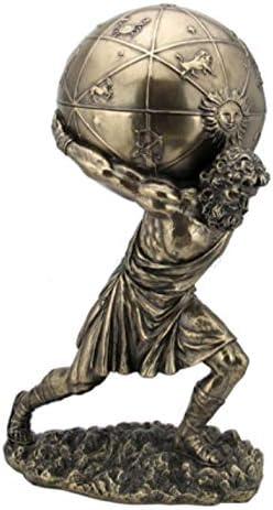 Veronese Statue griechischer Gott Atlas Figur trägt die Welt auf Schultern Box