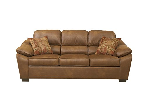 Roundhill Furniture Laramie Tanner Polyester Sofa - Tanner Living Room