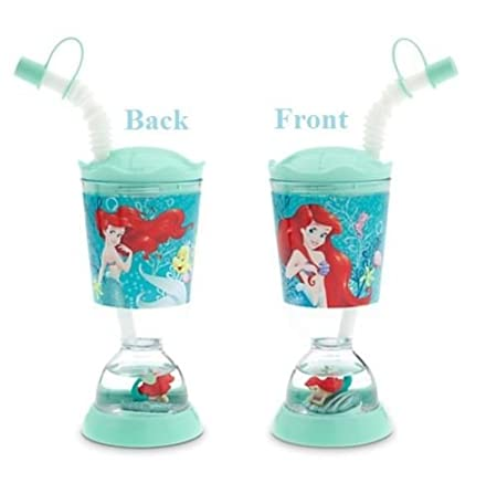 c3d20884f19 Disney Princess Ariel Little Mermaid Snowglobe Tumbler with Straw ...