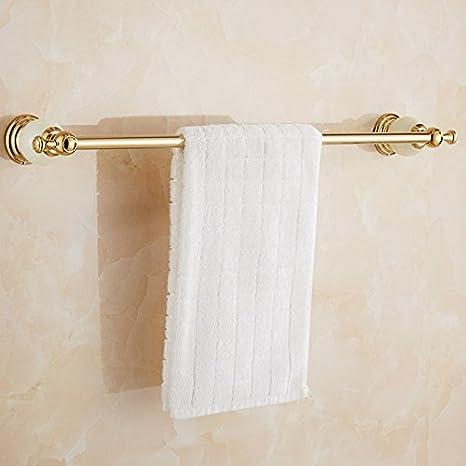 Znzbzt Jade que asegura una sola palanca toallero de golden toalla toallero de una sola capa de adornos de metal punzón, Golden Tsing Yu Jin Woo palanca ...