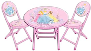 Great Disney Princess Folding Table And Chairs Set