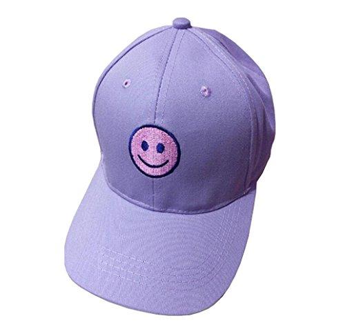 UPLOTER Unisex Baseball Cap Cotton Motorcycle Cap Edge Grinding Do Old Hat (Purple)