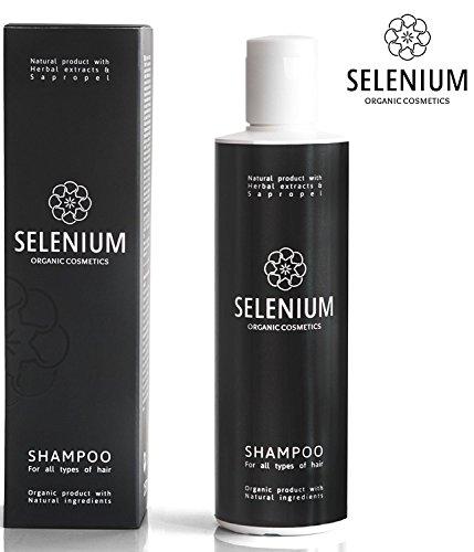Shampooing par Sélénium Organique Naturel shampooing avec un des Minéraux Protéines Vitamine Enzymes à base de plantes & Sapropel Extrait de Shampooing Anti-Pelliculaire Douce Sèche qui Démange le Psoriasis du cuir Chevelu et des Cheveux Abîmés / 8,5 oz