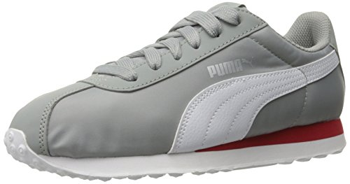 PUMA Men's Turin NL Fashion Sneaker, Limestone/Puma White, 4 M US