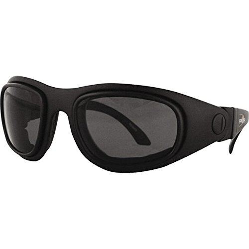 Bobster Sport & Street II Adult Convertible Sports Sunglasses/Eyewear - Black/Anti-fog Smoked, Amber, Clear / One Size Fits All