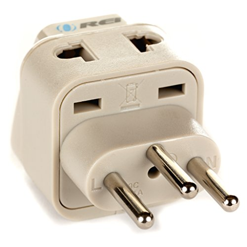 OREI Grounded Universal 2 in 1 Plug Adapter Type J for Switz