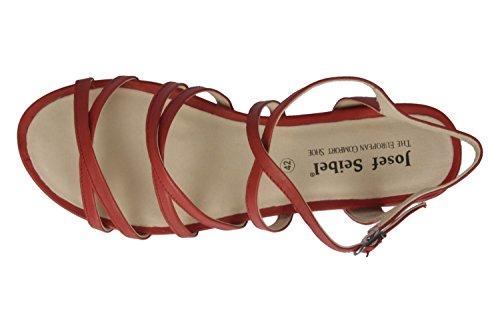 Josef Seibel 92301-971 Jolien 01 Sandalias para mujer - rojo
