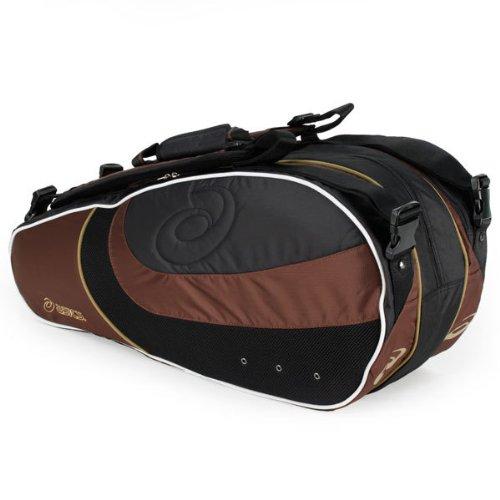ASICS 30030-90 Nine Pack Tennis Bag Brown/Black