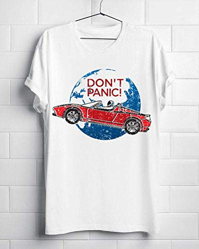 Don T Panic - A Tribute To Elon Musk, Spaceman And The Red Roadster 5 Shirt Gift For Men Women