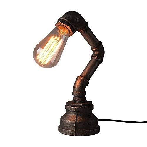 WOF Tischleuchte Steampunk Industrial Vintage Creativa Nachttischlampe Rustica Nachttischlampe Nachttischlampe mit Licht
