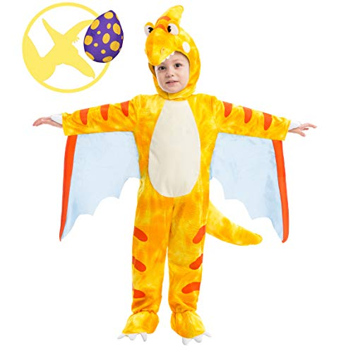 Spooktacular Creations Pterodactyl Dinosaur Costume Prehistoric Kid and Toddler Deluxe Set for Halloween Dress Up Party (Small)