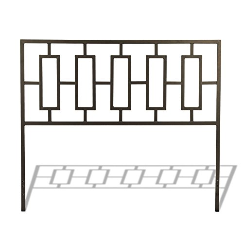 Miami Metal Headboard with Squared Tubing and Geometric Design, Coffee Finish, King by Fashion Bed Group