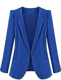 New Womens Color Blazer Jacket Suit Work Casual Basic Long Sleeve Coat