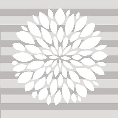 Grey Flower Sweet Potato Wall Decal