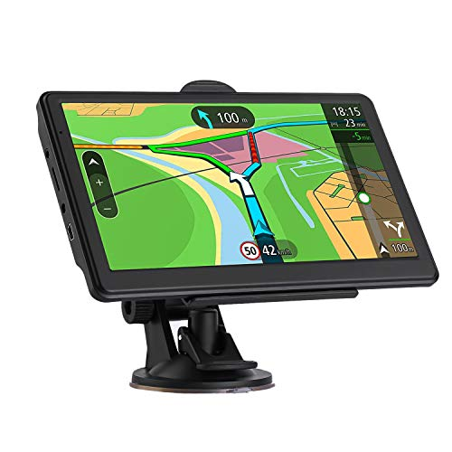 GPS Navigation for car, 7-inch HD GPS Navigation 256-8GB Voice Broadcast Navigation, top-Loading North America map Lifetime map Free Update