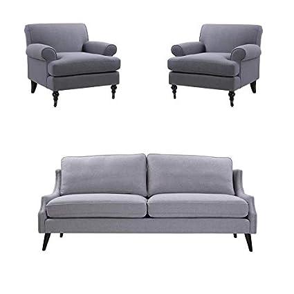 Brilliant Amazon Com Jennifer Taylor Home 3 Piece Sofa Set With Unemploymentrelief Wooden Chair Designs For Living Room Unemploymentrelieforg