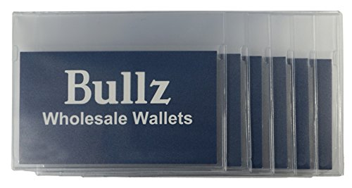 Set of 2 Heavy Duty Vinyl Plastic Secretary Inserts for Long Wallets- 6 Pages (Card Credit Wallet Checkbook Billfold)
