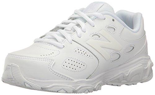 (New Balance 680 V3 School Uniform Shoe, 1/White, 2 M US Little Kid)