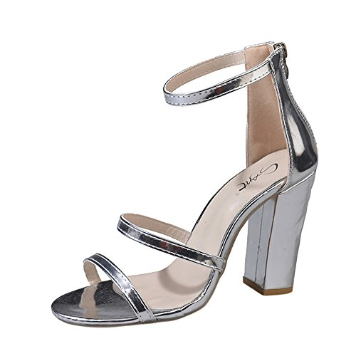 Mome Summer Sandals Women#039s Open Toe Single Shoes Ankle High Heel Party