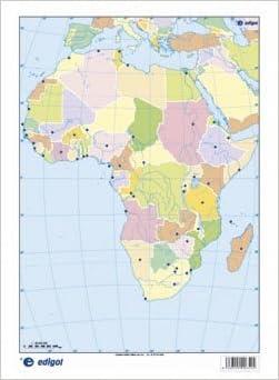 Africa Mapa Politico Mudo.Mapa Africa Politico Amazon Co Uk 9788492525317 Books