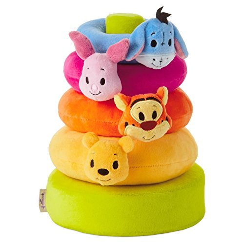 Hallmark Itty Bitty Baby 4 Stackable Rings & 1 Post Disney Winnie the Pooh -