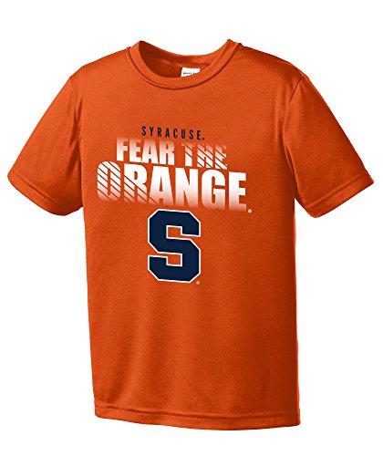 Ncaa Syracuse Orange Boys Fear Short Sleeve Polyester Competitor T Shirt  Youth Small  Orange