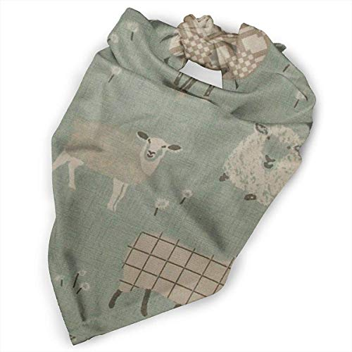cross ctA Pet Scarf Dog Bandana Bibs Triangle Head Scarfs Sheep Strip Green Accessories for Cats Baby Puppy
