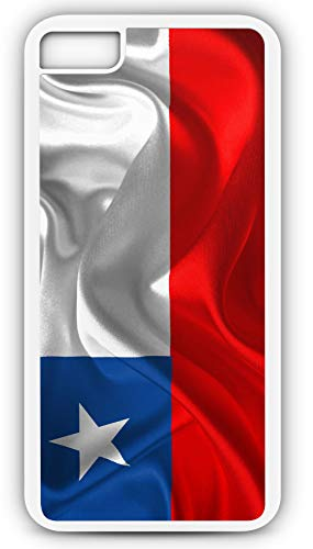 iPhone 7 Case Chile Flag National Chilean Flag of Country Chile Customizable by TYD Designs in White Plastic Black Rubber Tough Case ()