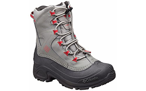 Columbia Kids' Youth Bugaboot III Boys-K Snow Boot, Quarry/Rocket, 2 M US Little Kid (Boot Rocket 2)