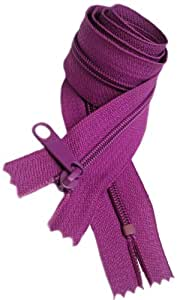 "Sale 30\"" Handbag Zipper (Special) YKK #4.5 with Extra-long Pull Color Wild Plum 299 (1 Zipper /Pack)"