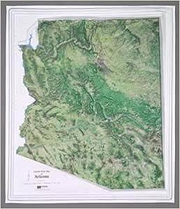 Satellite Map Of Arizona.Arizona Satellite Series Raised Relief Map Hubbard Scientific