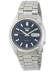 Seiko Mens SNXS77 Seiko 5 Automatic Blue Dial Stainless-Steel Bracelet Watch